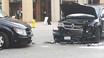 car wreck t-bone collision