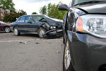 Two cars separated after auto accident