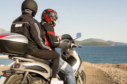 motorcyclists in safety gear