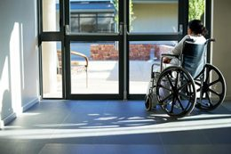 Patient Alone In Wheel Chair