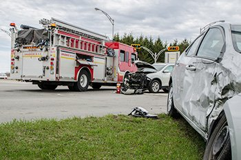 Auto accident scene