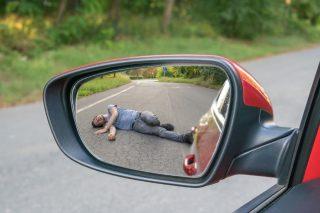 driver fleeing after hitting a pedestrian