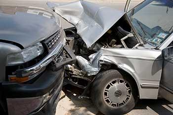 Head-on collision .
