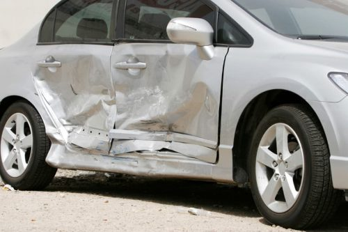 car after side impact accident