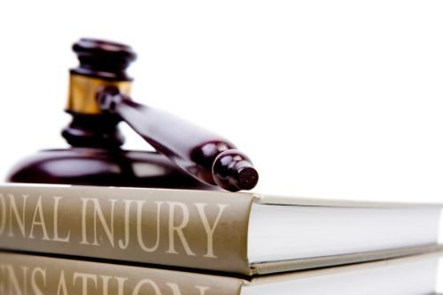 Gavel on book about personal injury